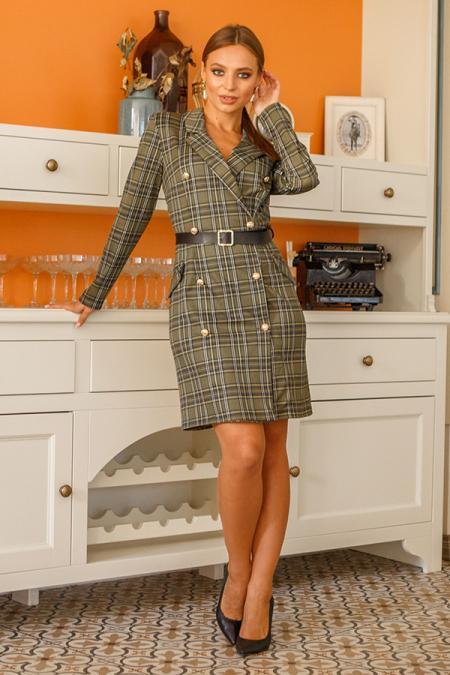 Платье 19-121 пиджак хаки. Купить оптом и в розницу