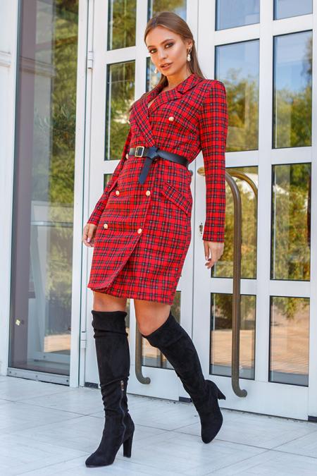 Платье 19-121 пиджак красное. Купить оптом и в розницу
