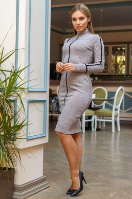 Платье 19-114 футляр пудра