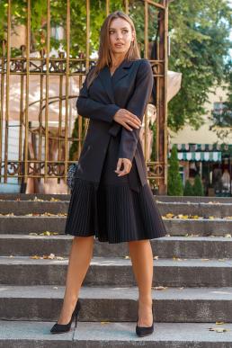 Платье 19-98 жакет на запах черный