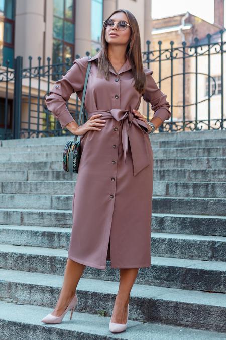 Платье 19-99 рубашка капучино. Купить оптом и в розницу