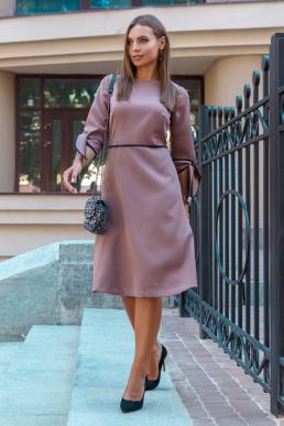 Платье 19-102 с лямовкой капучино