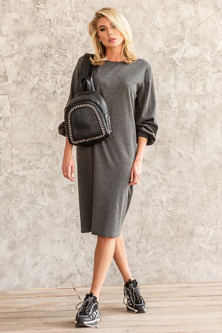 Платье 20-059-9 трикотаж серый