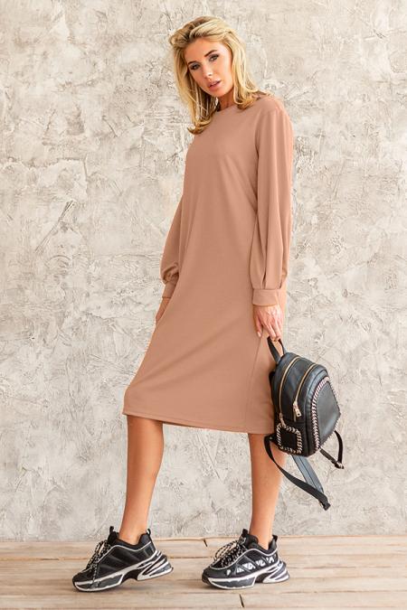 Платье 20-059-31 трикотаж капучино