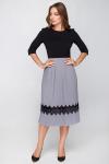 Платье 18-73 плиссе с ресницей черное