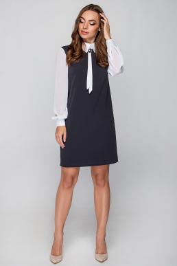 Платье 18-70 шифоновый рукав темно-серое