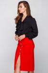 Блуза 18-61 бант черная