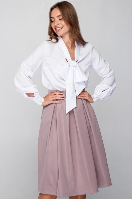 Блуза 18-61 бант белая
