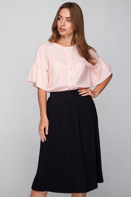 Блуза 18-58 с жемчужными пуговицами пудра