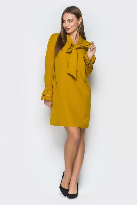 Платье 19-17-32 Бейлиз горчица. Купить оптом и в розницу