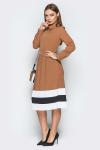 Платье 19-25 плиссе полосы песочный . Купить оптом и в розницу