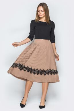 Платье 18-73 плиссе с ресницей беж