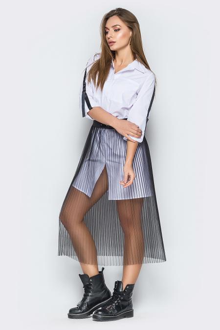 Комплект 19-10 рубашка и юбка плиссе. Купить оптом и в розницу