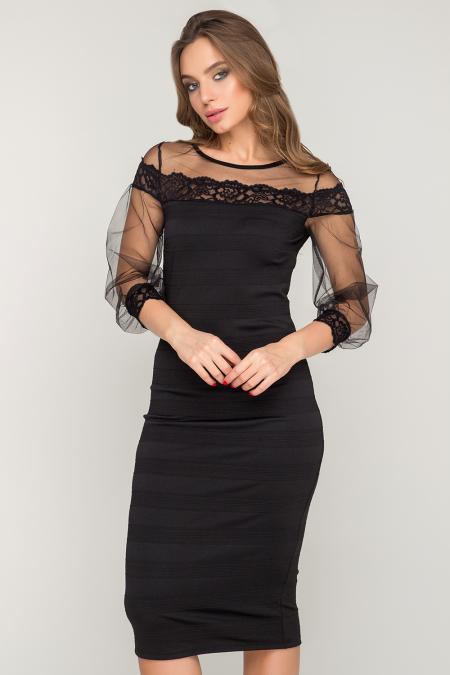 Платье 17-95 утяжка черное