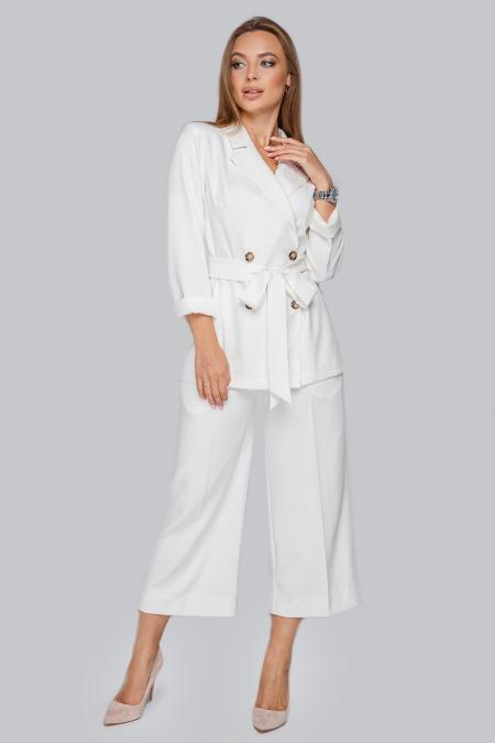Костюм 19-94 двубортный пиджак на пуговицах молоко. Купить оптом и в розницу
