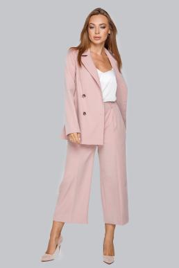 Костюм 19-94 двубортный  пиджак на пуговицах пудра