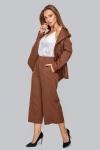 Костюм 19-94 двубортный  пиджак на пуговицах шоколад. Купить оптом и в розницу