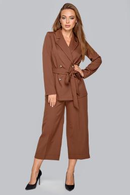Костюм 19-94 двубортный  пиджак на пуговицах шоколад