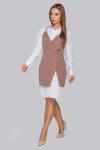 Костюм 19-86 платье-рубашка и приталенный сарафан капучино. Купить оптом и в розницу