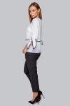 Блуза 19-92 белая с черным кантом. Купить оптом и в розницу