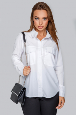 Блуза 19-87 рубашка из софта белая