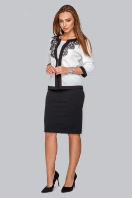 Костюм 19-90 платье футляр и жакет с кружевом