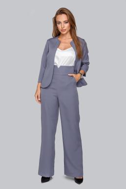 Костюм 19-95 тройка жакет брюки и майка из софта серый