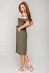 Платье 19-64 из коттона в горох с кружевом. Купить оптом и в розницу