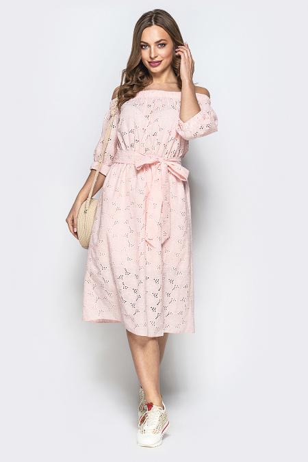 Платье 19-51 крестьянка прошва пудра. Купить оптом и в розницу