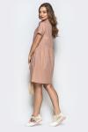 Платье 19-48 с карманами горох беж. Купить оптом и в розницу