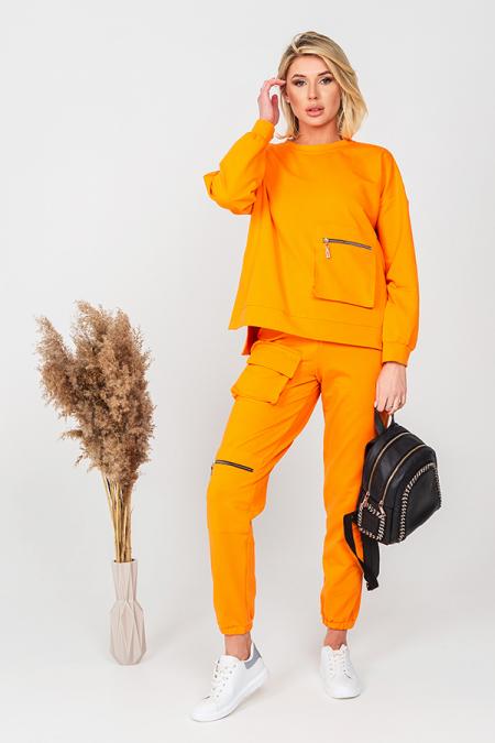 Костюм 21-007-40 карман книжка оранжевый