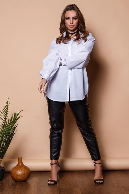 Блуза 20-014-8 Oversize белая. Купить оптом и в розницу