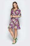 Платье 18-82 розы софт сирень. Купить оптом и в розницу