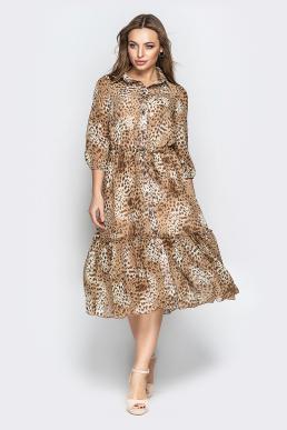 Платье 19-41 на планке длинное леопард