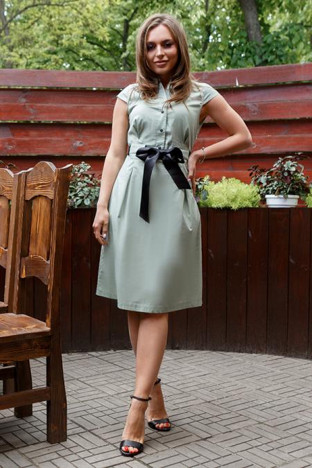 Платье 20-040-24 с репсовой лентой. Купить оптом и в розницу