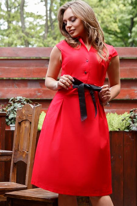 Платье 20-040-7 с репсовой лентой. Купить оптом и в розницу