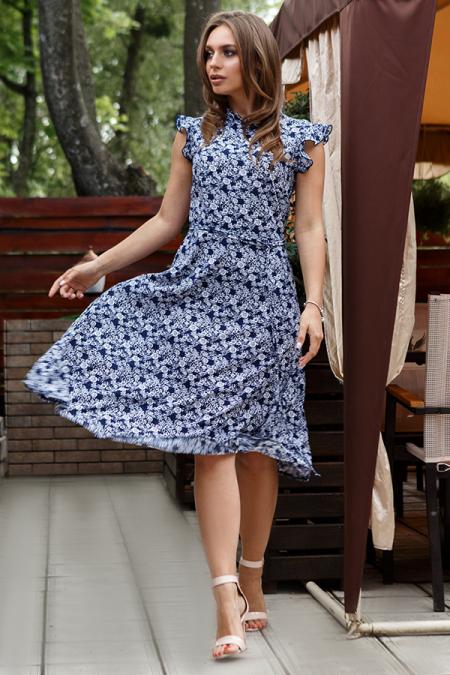 Платье 20-039-4с шифон-штапель цветок. Купить оптом и в розницу