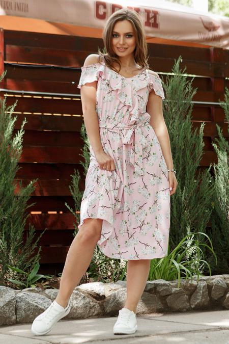 Платье 17-44-15с софт пудра . Купить оптом и в розницу