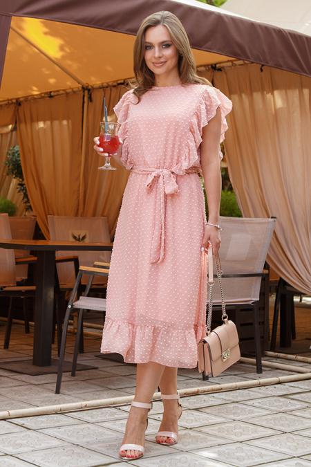 Платье 20-037-15 с крылышками пудра. Купить оптом и в розницу