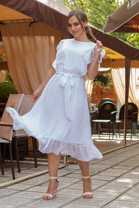 Платье 20-037-8 с крылышками белое. Купить оптом и в розницу
