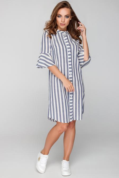 Платье 18-37 стойка белый. Купить оптом и в розницу