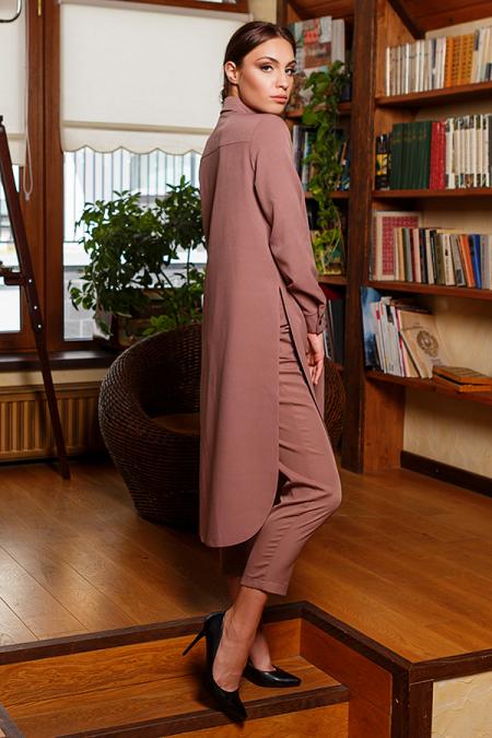 Костюм 20-071-30 брюки и рубашка капучино. Купить оптом и в розницу