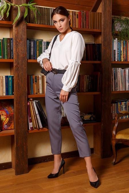 Блуза 20-055-8 пышный рукав молоко. Купить оптом и в розницу