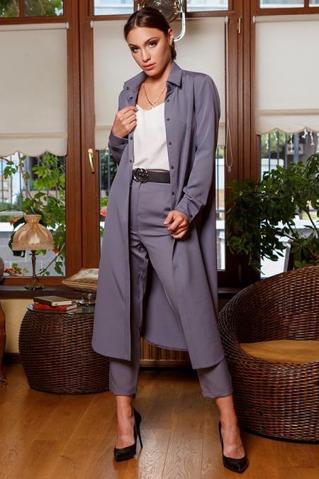 Костюм 20-071-9 брюки и рубашка серый. Купить оптом и в розницу