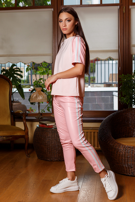 Костюм 20-015-13 костюм спорт-шик розовый. Купить оптом и в розницу