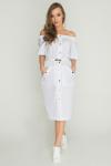 Платье сафари белое