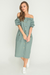 Платье 17-61 сафари оливка