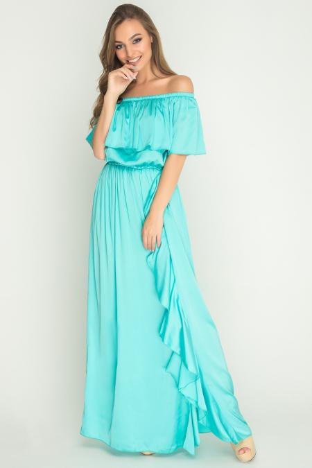 Платье 17-50 Армани с разрезом. Купить оптом и в розницу