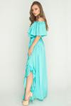 Платье Армани с разрезом мята