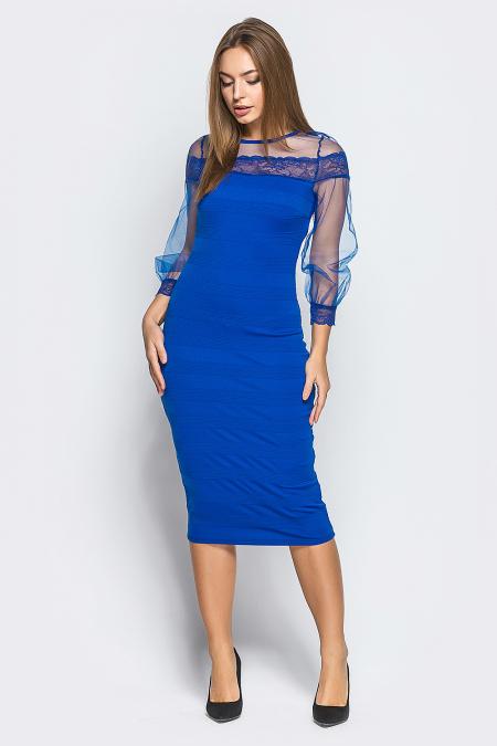 Платье 17-95 утяжка электрик